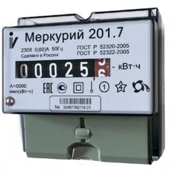 Счетчик Меркурий 201.7 5-60А 220В электрон. 1-тариф.