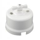 Выключатель 2-клавишный белый пластик Bironi