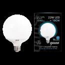 Лампа LED 22W E27 220V G125 холодный белый Gauss