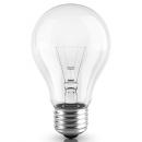 Лампа накаливания A55 75W Е27 220V прозрачная