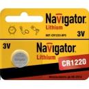 1220 Navigator CR1220 3v литиевая