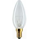 Лампа накаливания B35 40W Е14 220V свеча прозрачная