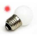 Лампа LED 1W E27 220V красная