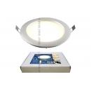 Светодиодный светильник 10w 180mm 3000K серебро