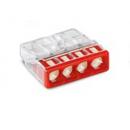Клеммник безвинтовой без пасты 2273-204 4x(0.5-2.5) WAGO
