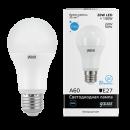 Лампа LED 20W E27 220V A60 холодный белый Gauss