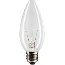 Лампа накаливания B35 40W Е27 220V свеча прозрачная