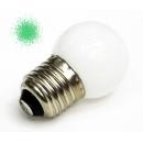 Лампа LED 1W E27 220V зеленая