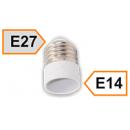 Патрон-переходник Е27 на Е14 белый