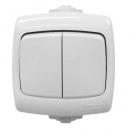 Выключатель 2-клавишный IP44 белый Schneider Electric