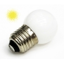 Лампа LED 1W E27 220V желтая