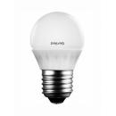 Лампа LED 5W E27 220V шар холодный белый Geniled
