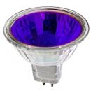 Лампа галогенная 50W GU5.3 220V MR16 синяя