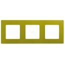 Рамка на 3 поста Зеленый папоротник Legrand Etika