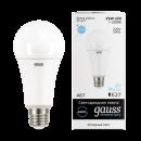 Лампа LED 25W E27 220V A67 холодный белый Gauss