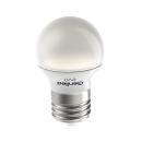 Лампа LED 5W E27 220V шар теплый белый Geniled EVO