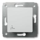 Выключатель 1-клавишный IP44 белый Legrand Cariva