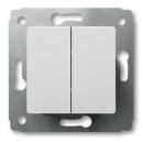 Выключатель 2-клавишный белый Legrand Cariva