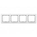 Рамка на 4 поста белая/кристалл Legrand Valena