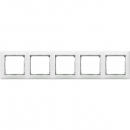 Рамка на 5 постов белая/кристалл Legrand Valena
