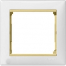 Рамка на 1 пост белая/желтый опал Legrand Valena