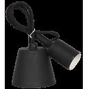 Патрон Е27 силиконовый со шнуром 1 метр черный