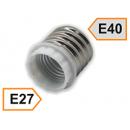 Патрон-переходник Е40 на Е27 белый