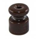 """Изолятор """"Ретро"""" коричневый фарфор (крепление для витого провода) Bironi"""
