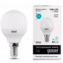 Лампа LED 10W E14 220V G45 холодный белый Gauss