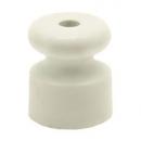 """Изолятор """"Ретро"""" белый пластик (крепление для витого провода)"""