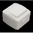 Выключатель 1-клавишный с индикацией IP54 серый EL-BI