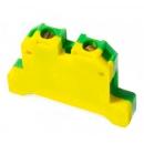 Клемма ЗНИ-6 желто-зеленая 6мм² на Дин-рейку IEK