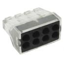 Клеммник безвинтовой с пастой СМК 108 8x(1,0-2,5) EKF