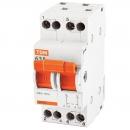 Модульный переключатель трехпозиционный МП-63 2п 40А TDM Electric