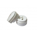 Розетка/вилка для плиты 32А 220В накладная белая