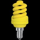 Лампа энергосберегающая 12W E14 желтая Ecola