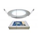 Светодиодный светильник 6w 120mm 4500K серебро