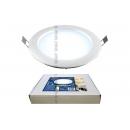 Светодиодный светильник 10w 180mm 6500K серебро