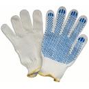 Перчатки х/б с защитой скольжения S-M белые