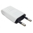 Вилка б/з прямая белая плоская 10А TDM Electric
