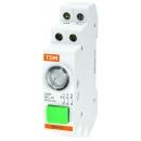 Выключатель кнопочный на дин-рейку с индикацией LED синий 2НО 1НЗ AC/DC TDM Electric