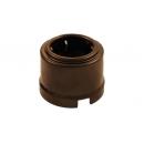 Розетка 1-ая с заземлением коричневый пластик Bironi