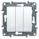 Выключатель 3-клавишный белый Legrand Etika