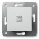 Выключатель 1-клавишный с индикацией белый Legrand Cariva