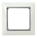 Рамка на 1 пост белая/серый Legrand Valena