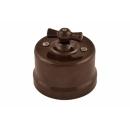 Выключатель/переключатель 1-клавишный коричневый пластик Bironi