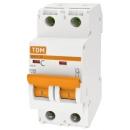 Автоматический выключатель TDM ВА47-29 2п 16А (C) 4.5кА