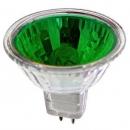 Лампа галогенная 35W GU5.3 220V MR16 зеленая