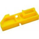 Изолятор на DIN-рейку  для шины желтый
