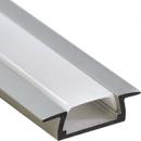 Алюминиевый профиль PAL 2206 22x6 (длина 2м) врезной без рассеивателя